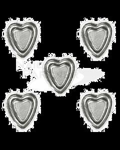 Clou Vintage Heart Silver 5pcs
