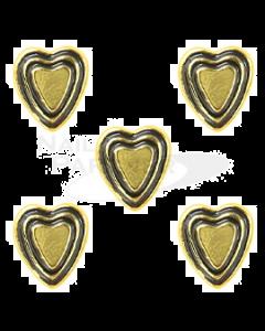 Clou Vintage Heart Gold 5pcs