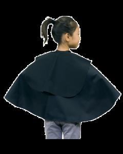 No. 1014 Children Hairdressing Cape (Attached Shampoo Cloth) Black