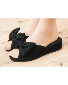 Heel Slippers Butterfly(4cm) Black