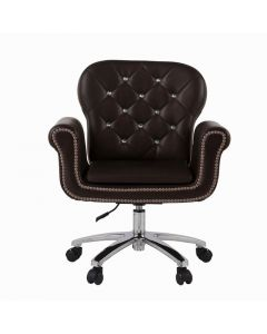 Luxury Nail Chair Dark Brown