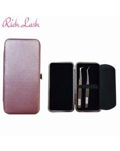 Plastic Tweezers Case Pink (Fits 3 Tweezers)