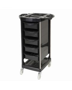 Storage Wagon T618 (7-Tier/Featuring Wheel Casters) (Completely Assembled) Black