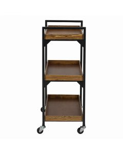 Rustic 3-Tier Wagon (Natural Wood) (Completely Assembled) Brown