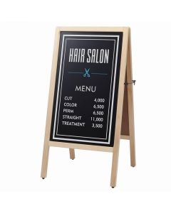 (Type A) Dual-Sided Blackboard (L) (Magnetic/Chalk-use) Natural