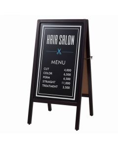 (Type A) Dual-Sided Blackboard (L) (Magnetic/Chalk-use) Dark Brown