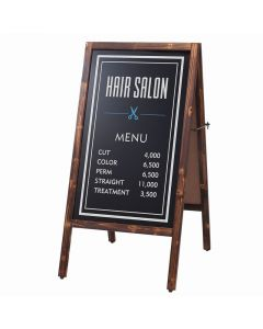 (Type A) Dual-Sided Blackboard (L) (Magnetic/Chalk-use) Old Brown