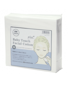[New] Baby Touch + Facial Cotton M (60 x 80 mm / 500 pieces)