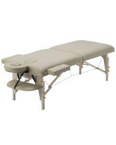 Luxury Memory Foam Wide Wooden Folding Bed 006SWDX Beige