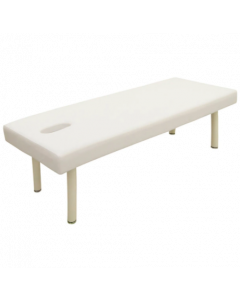 [High Density Urethane] Perforated Wide Massage Bed W-5DX White [L190xW70cm]
