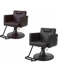 HD-059S (Brown) Shampoo Chair with Stainless Steel Round Base HD-2M