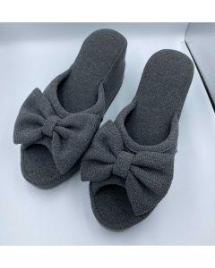 Heel Slippers Butterfly (7cm) Gray