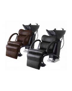 Back Shampoo Unit MR-0430II (Faucet Set - Made in Japan) Single Lever Type Vintage Black / Vintage Dark Brown