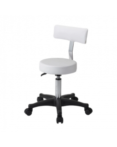 F-843 Stool with Backrest White (Caster Irreplaceable)