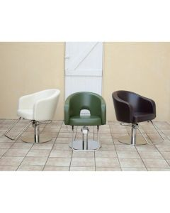 [CAFE Lounge] Styling Chair HD-6273 Off White / Dark Brown / Dark Green *In case of 5 legs base HD-7M