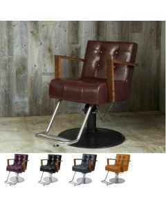 [VINTAGE] Styling Chair ALBERO Caramel Brown / Vintage Brown / Vintage Green / Vintage Black*In case of 5 legs base HD-7M