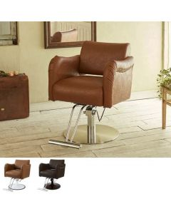 [CAFE Lounge] Styling Chair BREEZA Camel / Vinatge Brown
