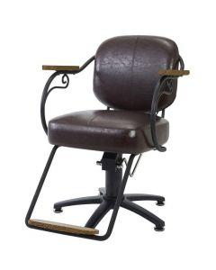 [VINTAGE] Styling Chair ROTIS Vintage Green / Vintage Brown *In case of 5 legs base HD-7M