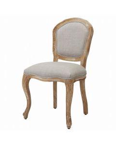 (Shabby Chic) Styling Chair LUMINOUS Armless Type Ash Grey