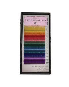 Platinum Mink Lash Color Mix C Curl 0.07 thickness 9MM SINGLE