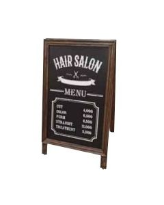 (Type A) Antique Brown Dual-Sided Signboard (M) (Non Magnetic/ Compatible with Marker and Chalk)
