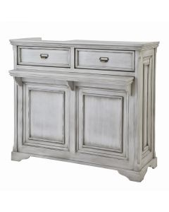 (Shabby Chic) Wooden Antique Register Counter VICTOIRE-1200 Antique White