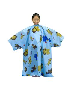 No. 7259 Children Hairdressing Cape with Sleeve [Waterproof]