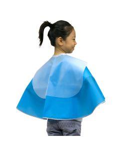 No. 1014 Children Hairdressing Cape (Attached Shampoo Cloth) Blue