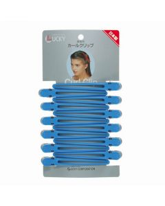 Curl Clip LL Blue 12pcs 102MM