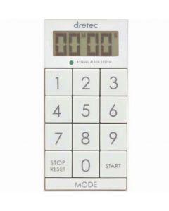 """T-520 Digital Timer """"Slim Cube"""" White"""