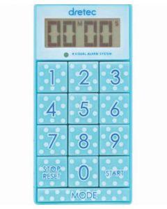 "T-520 Digital Timer ""Slim Cube"" Blue"